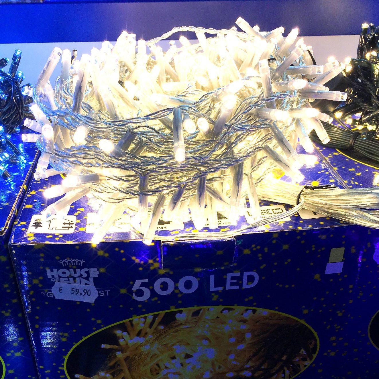 Luci natalizie catena 500 minilucciole led bianco caldo for Esterno frigorifero caldo