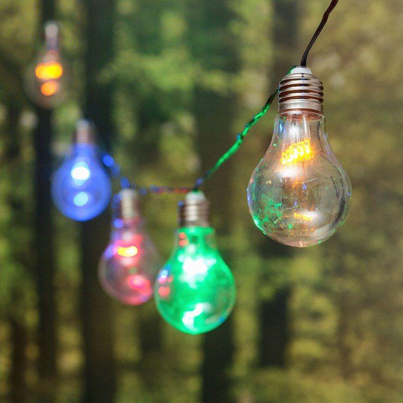 Catenaria catena party 5 metri 10 lampade a bulbo miniled for Luci per esterno