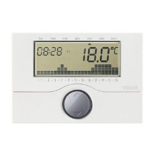 Cronotermostato elettronico vimar 01910 for Programmazione cronotermostato vimar 01910
