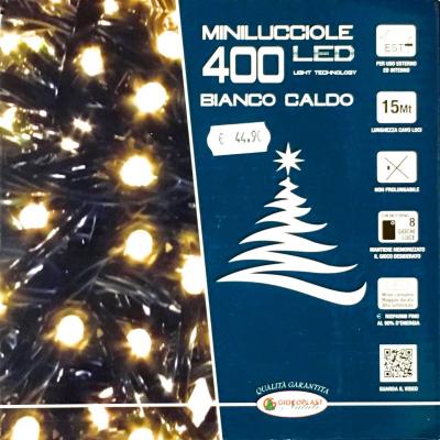 400 Minilucciole LED Bianco Caldo