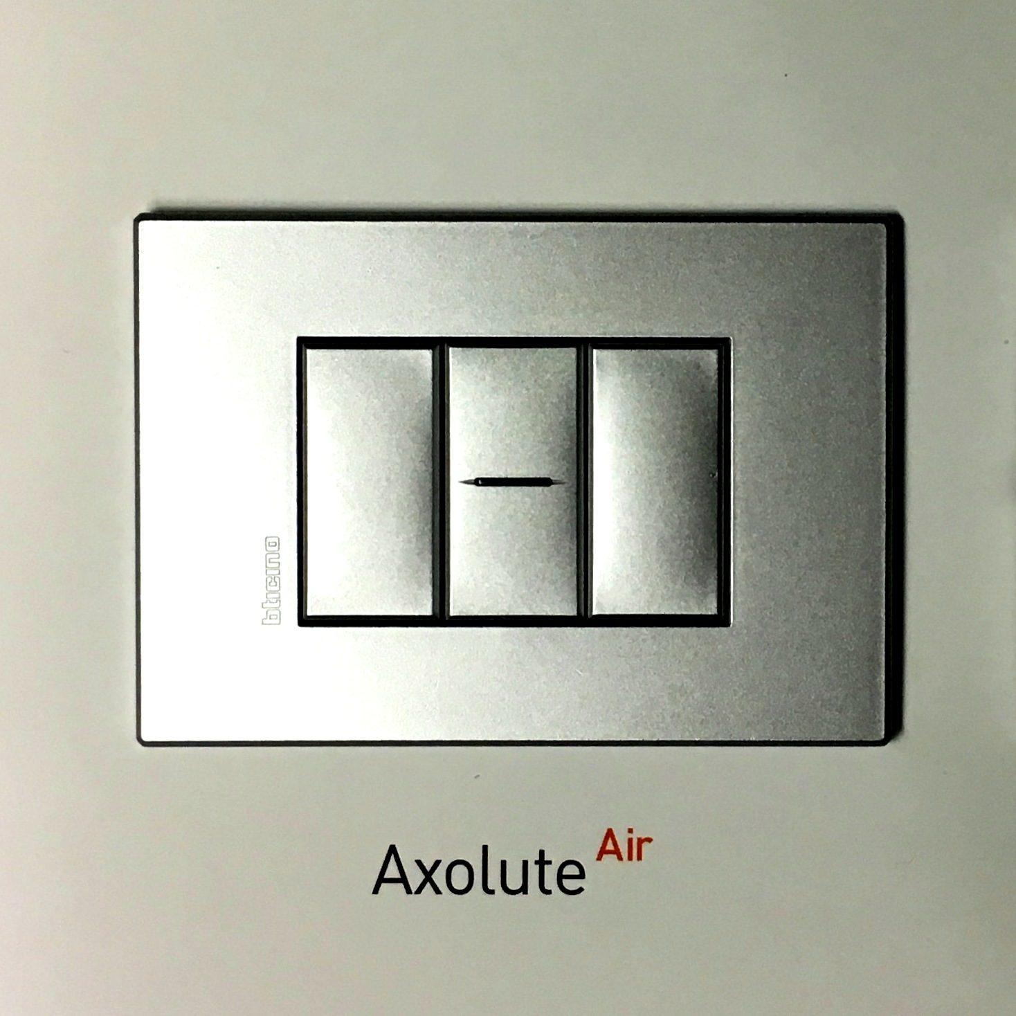 Bticino living axolute air hw4803hc placca 3 posti tech for Bticino living