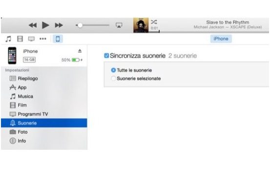 musica su iphone e metterla come suoneria