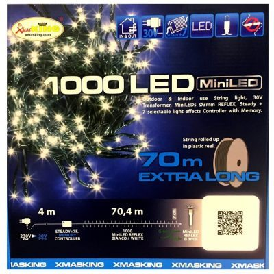 Stringa 1000 LED XMas King