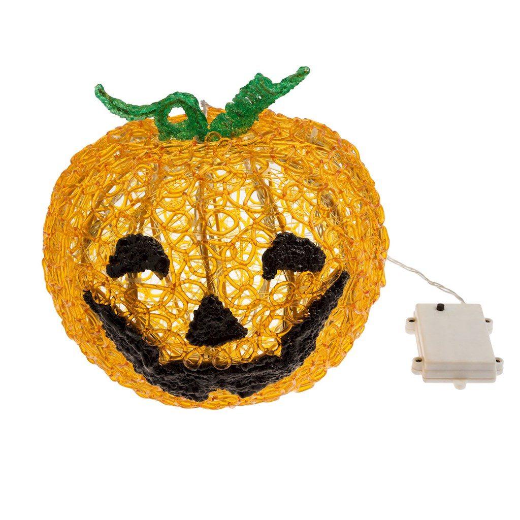 Zucca halloween 3d h 22 cm led bianco caldo for Zucca halloween luminosa