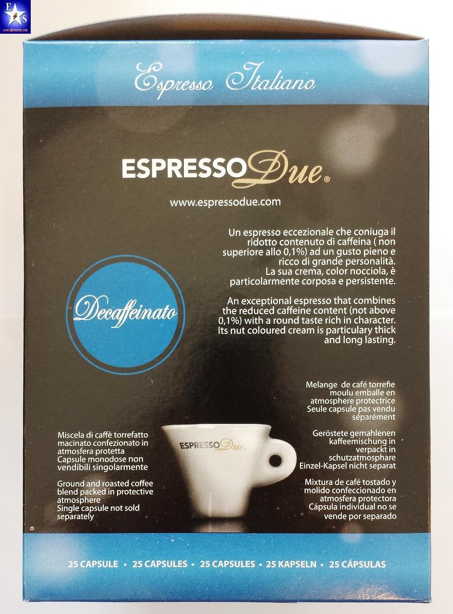 Espresso Due 50 Capsule Caffè Decaffeinato per Nuove..