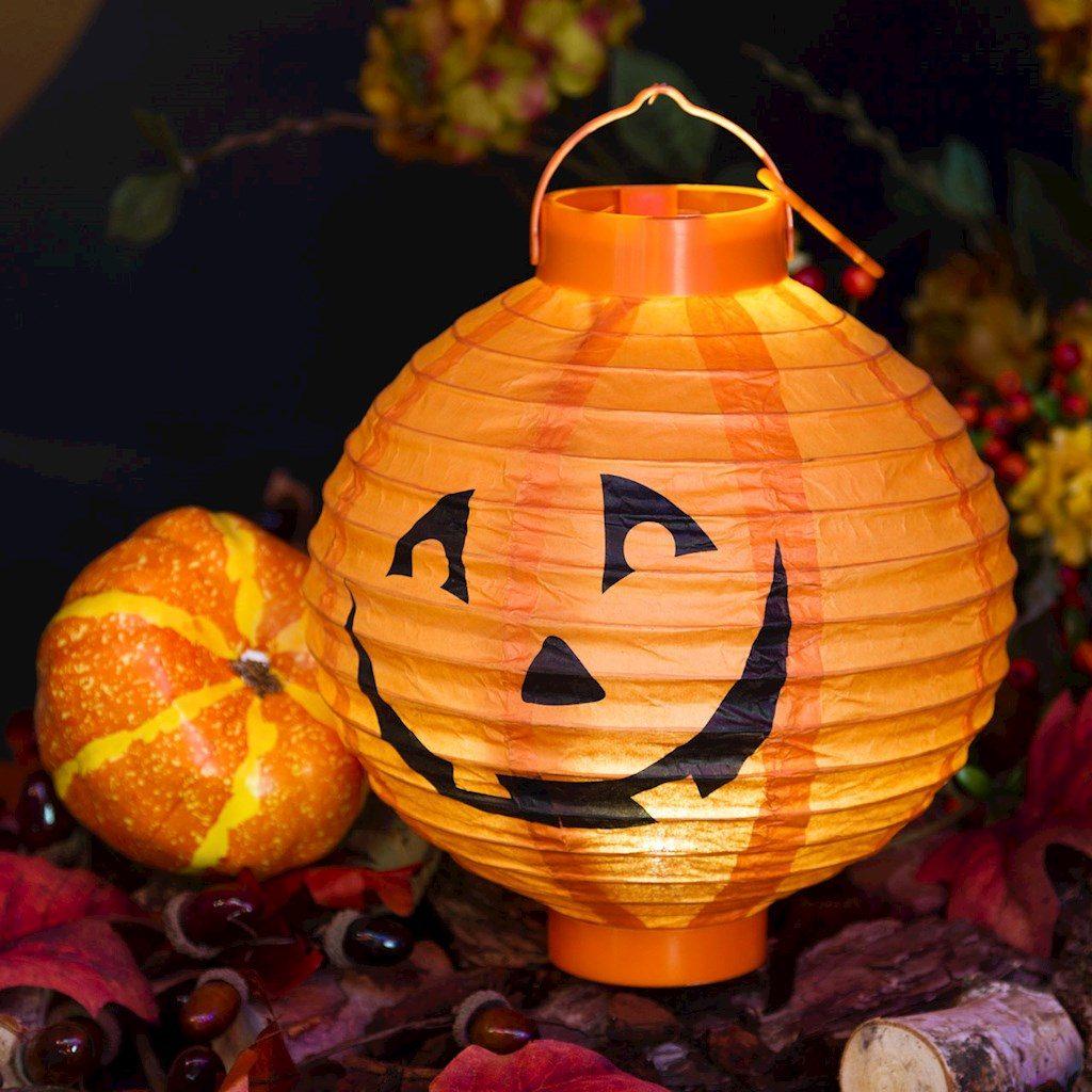 Lanterna zucca halloween 20 cm bianco caldo for Zucca halloween luminosa