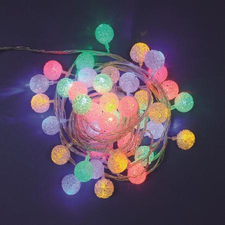 Catena 6 m, 40 minisfere, led multicolor
