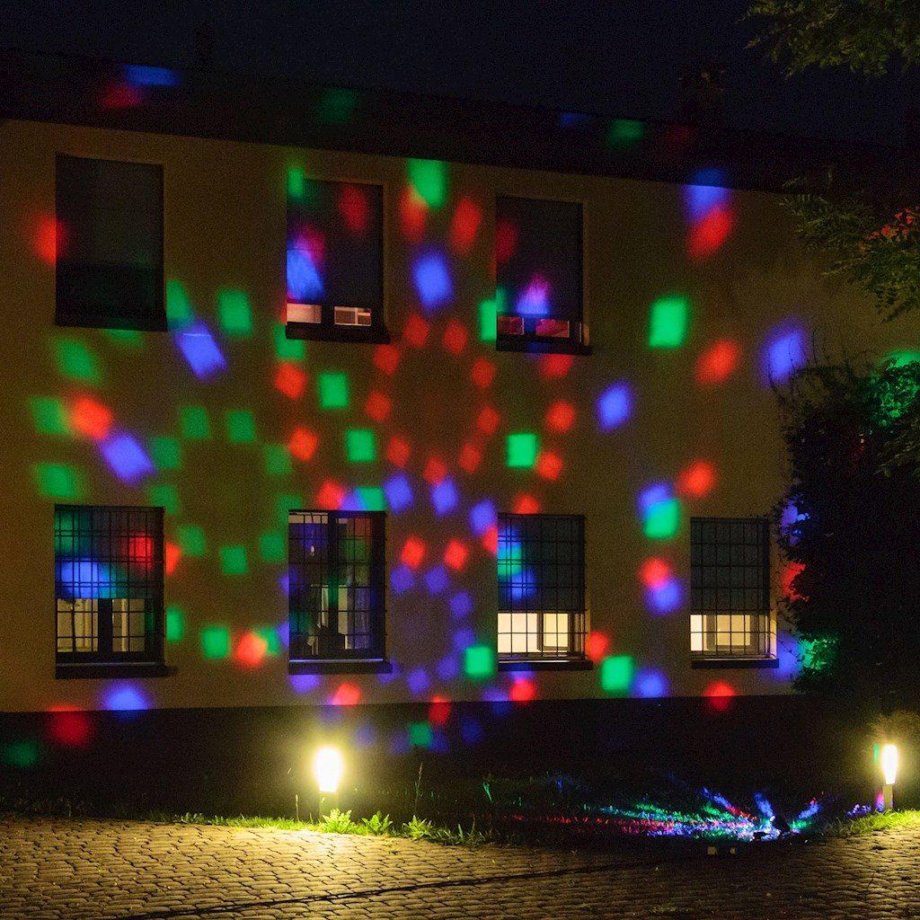 Proiettore caleidoscopico led multicolor con giochi automatici for Proiettore led