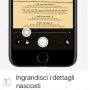 iOS 10: trasforma il tuo iPhone in una lente di ingrandimento
