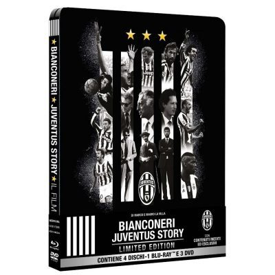 Bianconeri - Juventus Story - Limited Steelbook Edition 1 Blu-ray + 3 DVD