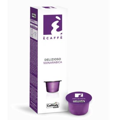 Caffitaly 10 Capsule Ècaffè - gusto Delizioso 100% Arabica