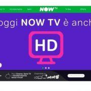 Now TV finalmente in HD ma non per lo sport