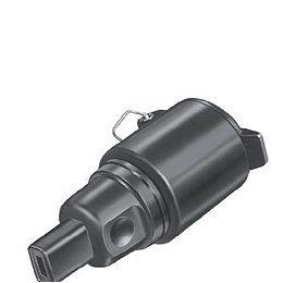 Presa Schuko IP44 in gomma nera con tappo di chiusura - adatta per catene luminose e catenarie