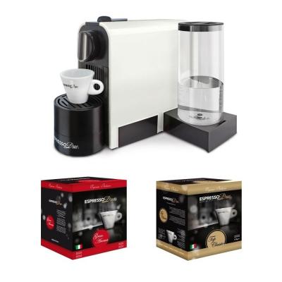 Macchina da caffè a capsule Espresso Due 327 Bianca con 50 Capsule incluse