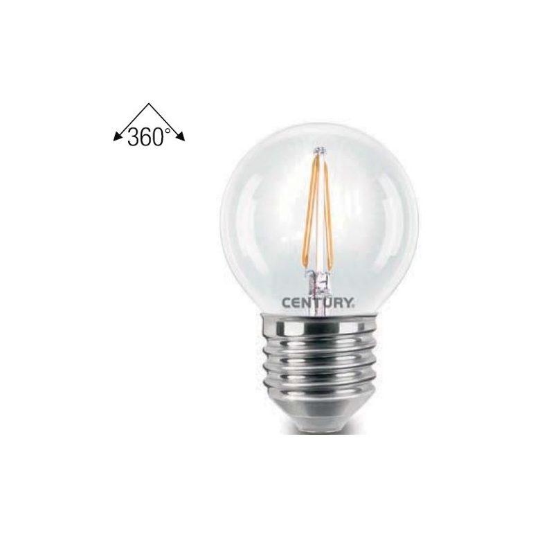 Lampadine A Led Luce Calda.Lampadina Led Sfera Incanto 2w E27 A Filamento 245 Lumen Luce Calda