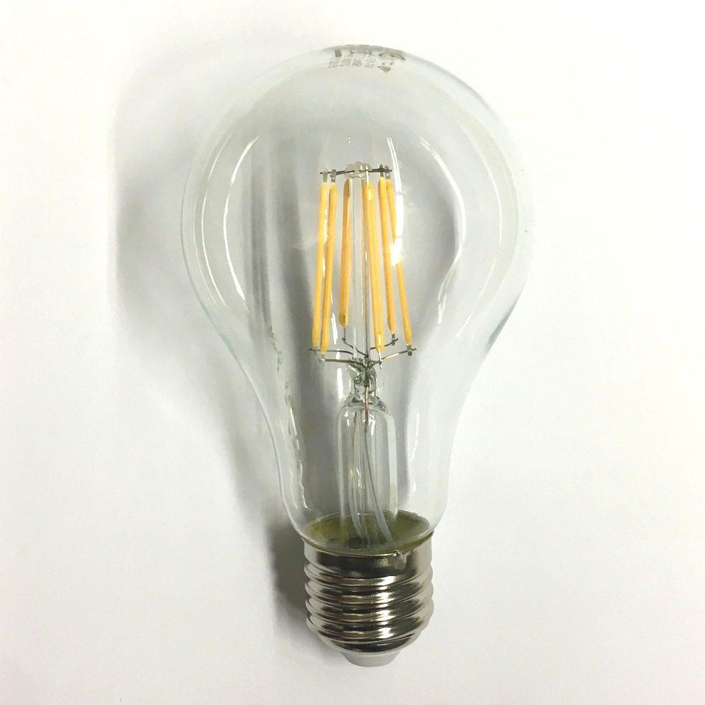 Lampadina LED 8W E27 a Filamento - Risparmio Energetico, Bianco Caldo SKU-4407