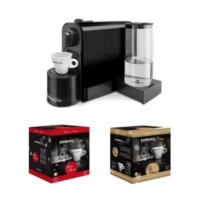 Macchina da caffè a capsule Espresso Due 327 Nera con 50 Capsule incluse