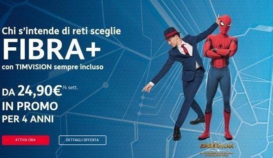 TIM lancia la sua offerta FIBRA+ a soli 24,90 euro al mese