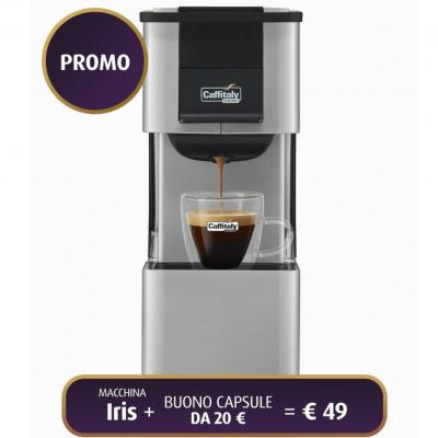Macchina da Caffè IRIS S27 ARGENTO/NERO Caffitaly
