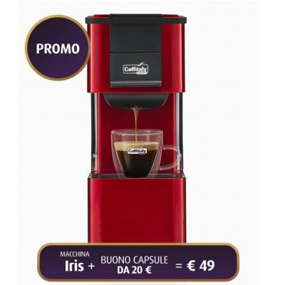 Macchina da Caffè IRIS S27 ROSSO/NERO Caffitaly
