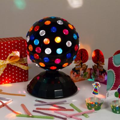 Proiettore disco a sfera rotante Ø 22 x h. 31 cm, giochi di luce automatici, luci per feste