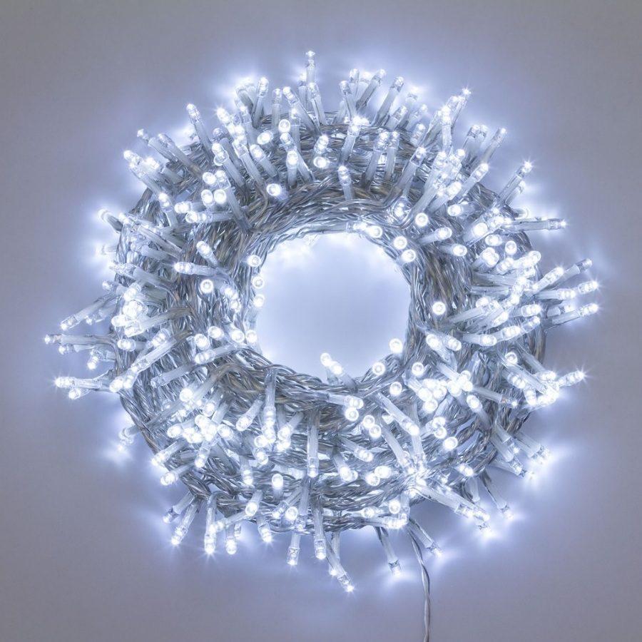 Come Creare Una Renna Luminosa catena luminosa nastro di luce 30,5 m, 1.500 led bianco freddo, 8 giochi di  luce