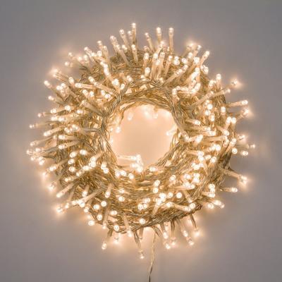 Catena Luminosa Nastro di Luce 30,5 M, 1.500 LED Bianco Caldo, 8 Giochi di Luce