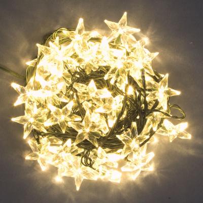 Catena 9,6 m, 48 Stelle con LED Bianco caldo, giochi di luce, prolungabile