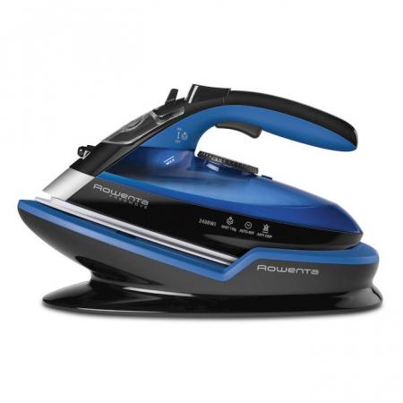 Rowenta Freemove DE5010 Ferro a vapore Microsteam 400 soleplate 2400W Nero, Blu