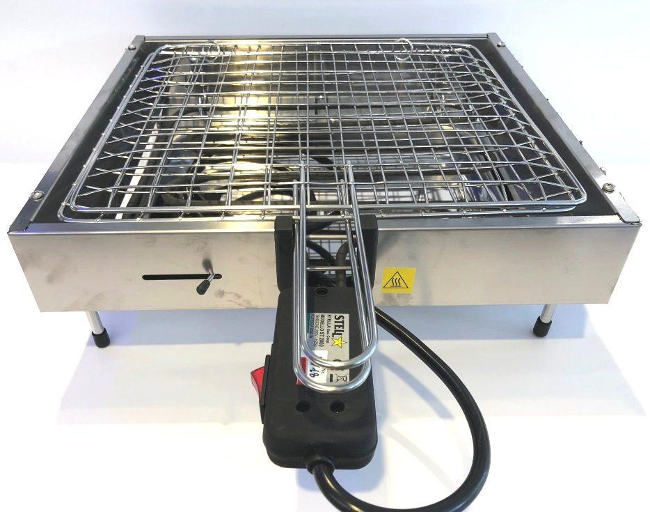 Bistecchiera elettrica 2000w in acciaio inox e resistenza for Bistecchiera elettrica