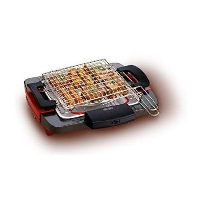 De Longhi GRIGLIATUTTO BQ58 Barbecue elettrico, doppia griglia girevole