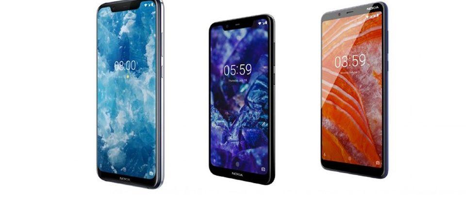 HMD Global annuncia 3 nuovi Nokia: Nokia 8.1, Nokia 3.1 Plus e Nokia 5.1 Plus