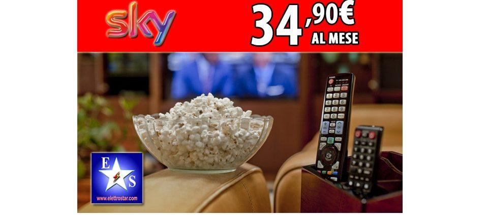 Regalati Sky! Ora l'offerta via satellite a 34,90 euro al mese per 36 mesi!