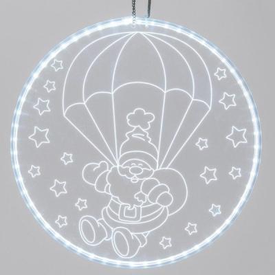 44579 Disco Luminoso Babbo Natale con Paracadute