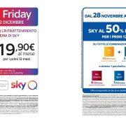 Dal 28 Novembre al 2 Dicembre arriva il Black Friday di Sky!