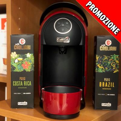 Caffitaly BIANCA 22 Nero//Bianco-Capsula Macchina del Caffè